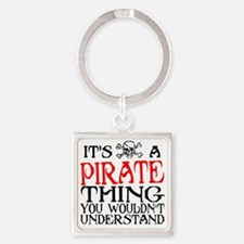 PIRATE_THING2 Square Keychain