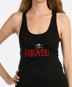 PIRATE_THING2 Racerback Tank Top