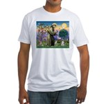 St Francis & Schnauzer (#5) Fitted T-Shirt