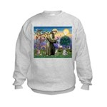St Francis & Schnauzer (#5) Kids Sweatshirt
