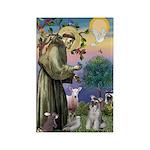 St Francis & Schnauzer (#5) Rectangle Magnet (10 p