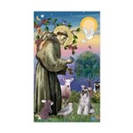 St Francis & Schnauzer (#5) Rectangle Sticker