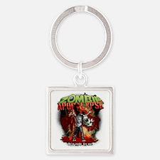 Zombie Apocalypse art Square Keychain