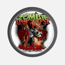 Zombie Apocalypse art Wall Clock