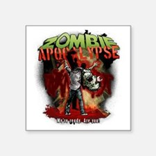 "Zombie Apocalypse art Square Sticker 3"" x 3"""