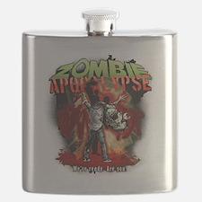 Zombie Apocalypse art Flask