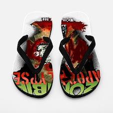 Zombie Apocalypse art Flip Flops