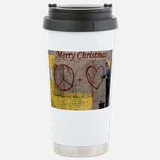 Merry Christmas Stainless Steel Travel Mug