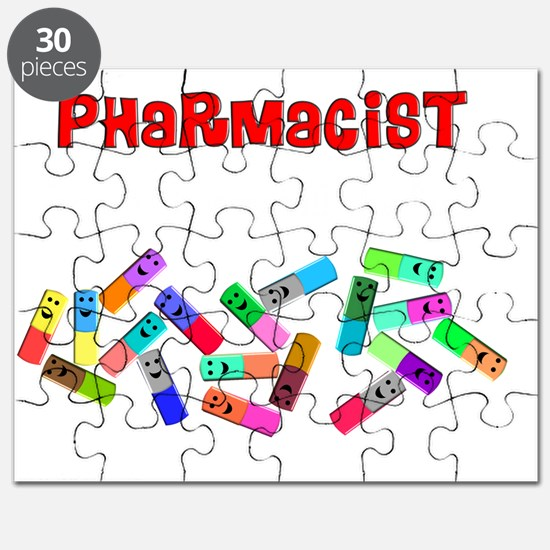 Pharmacist counts happy pillsDARKS Puzzle