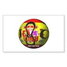 Spain Soccer Rectangle Decal