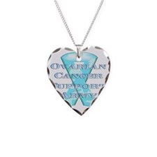 Ovarian Cancer Support Army Necklace