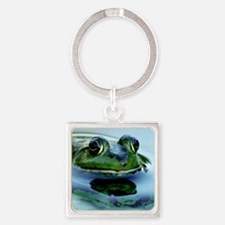 Frog Watching you Watching Me Square Keychain