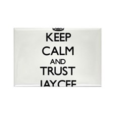 Keep Calm and trust Jaycee Magnets