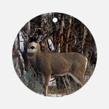 Buck deer Round Ornament
