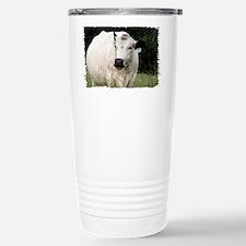 British White Cow at Pasture Travel Mug