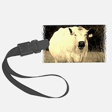 British White Cow - Sepia Color Luggage Tag