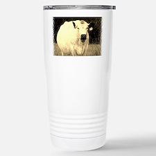 British White Cow - Sepia Color Travel Mug
