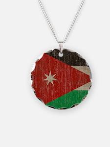 Vintage Jordan Flag Necklace