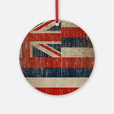 Vintage Hawaii Flag Round Ornament