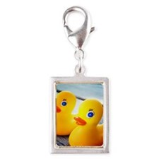 Rubber Ducky Silver Portrait Charm