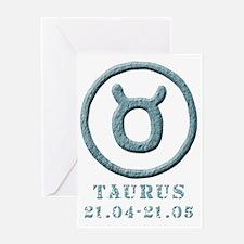 zodiac taurus/bull Greeting Card
