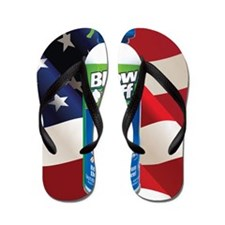 Blow Off with Flag BOX Flip Flops