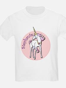 Stephanie Unicorn Kids T-Shirt