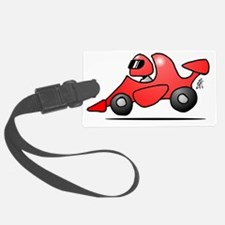 Red race car Luggage Tag