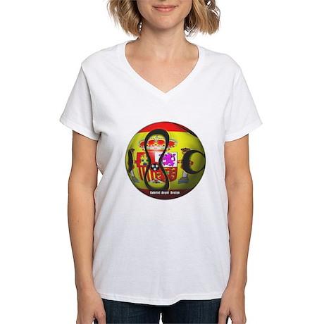 Spain Soccer Women's V-Neck T-Shirt