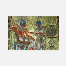Tutankhamons Throne Rectangle Magnet