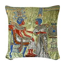 Tutankhamons Throne Woven Throw Pillow