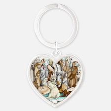 Ferret Laundry Heart Keychain