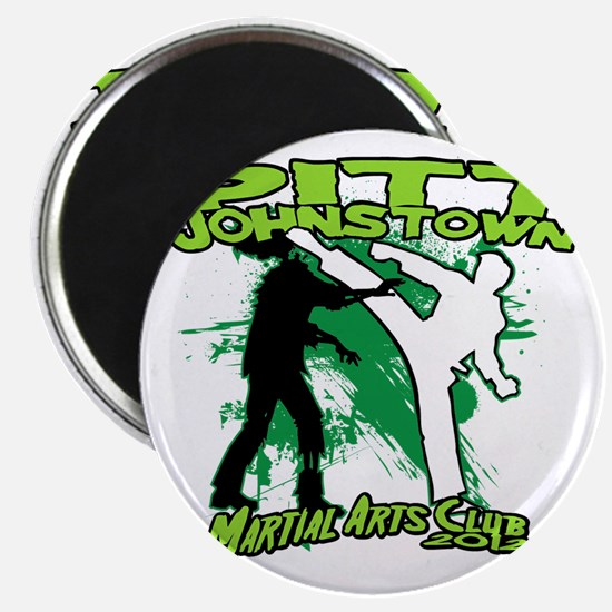 2012 Green zombie fighting logo Magnet