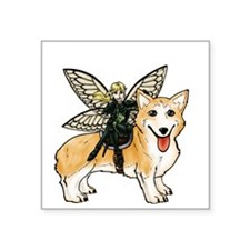 "Pixi Corgi Cavalry Square Sticker 3"" x 3"""