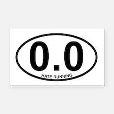 0.0 hate running090612 Rectangle Car Magnet