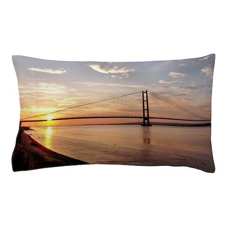 Humber Bridge Sunset Pillow Case