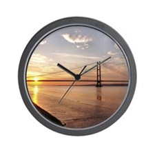 Humber Bridge Sunset Wall Clock