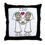Lesbian Wedding I Do Throw Pillow