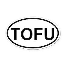 tofu Oval Car Magnet