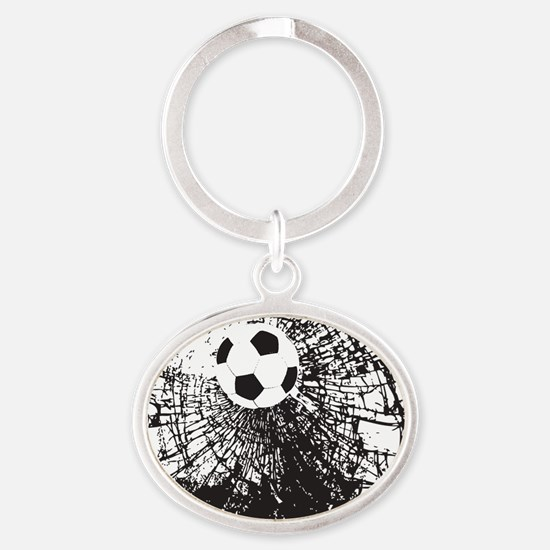 Shattered Glass Ball Oval Keychain