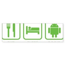 EatSleepDroid1D Bumper Sticker