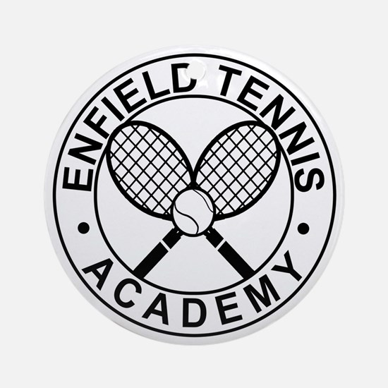 Enfield Tennis Academy - Front Round Ornament