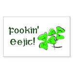 Fookin' Eejit! Rectangle Sticker