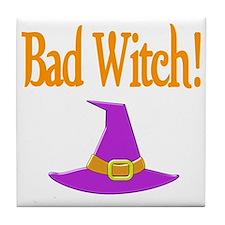 Bad Witch Hat Tile Coaster