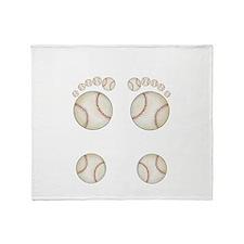 Baseball Feet Throw Blanket