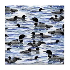Lots of Loons Tile Coaster