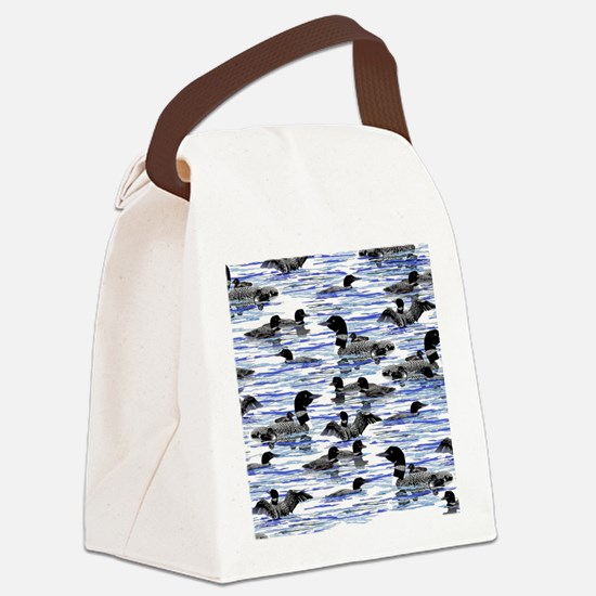 Lots of Loons Canvas Lunch Bag