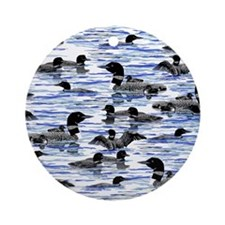 Lots of Loons Round Ornament