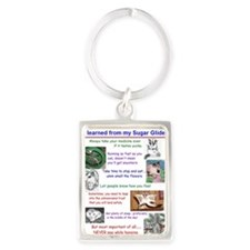 Everything I need to know Portrait Keychain