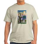 St Francis & Schnauzer (#5) Light T-Shirt